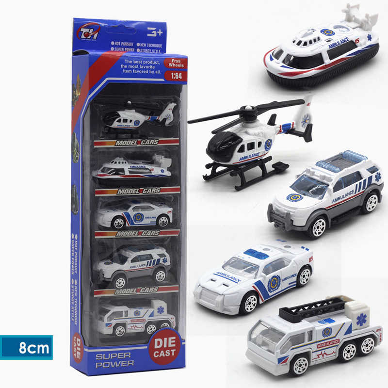 Diecast Mainan Kendaraan Mobil 1: 64 Balap Pertanian Ambulans Hijau Hitam Putih Hijau Militer Diecast Mainan untuk Anak-anak Model Mobil Traktor