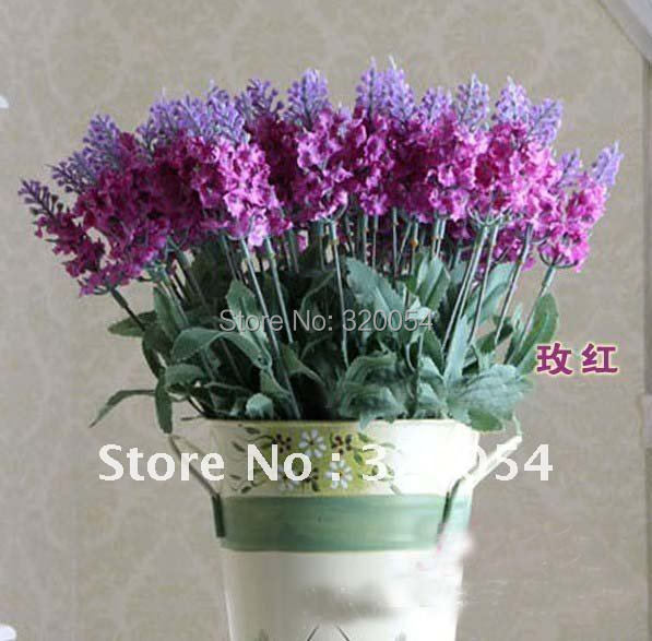 HOT SALE!10 head Lavender High simulation Decorative flowers Artificial flowers high quality free shipping