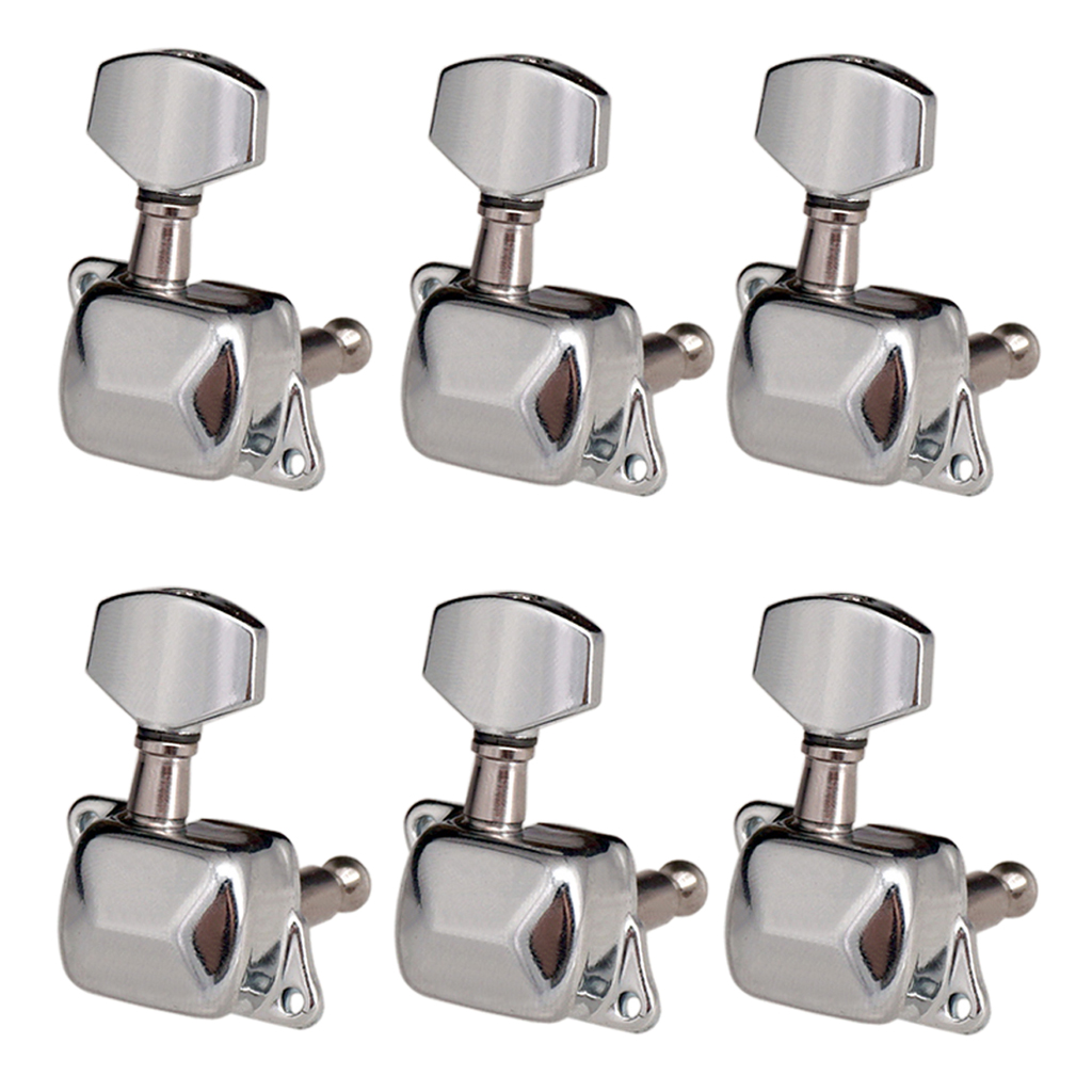 Zinc Alloy 6R Semiclosed Tuning Pegs Tuner Machine Head Electric Guitar Part Musical Instruments Accessories