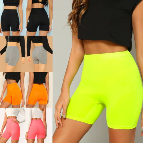 Womens Stretch Biker Bike Shorts Elastic High Waist Hot Short Fitness Workout Spandex Leggins Knee Length Shorts S M L XL
