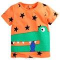 100% Algodón 2017 Nuevos Muchachos Del Bebé Ropa de Niño Niños Niños Marca de ropa de Verano Tees Camiseta de Manga Corta t Camisa de Los Niños blusa