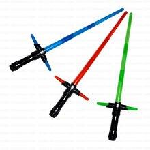 Kylo Ren Star Wars Lightsaber with Light Sound Led Saber Telescopic Star Wars laser Sword Toy