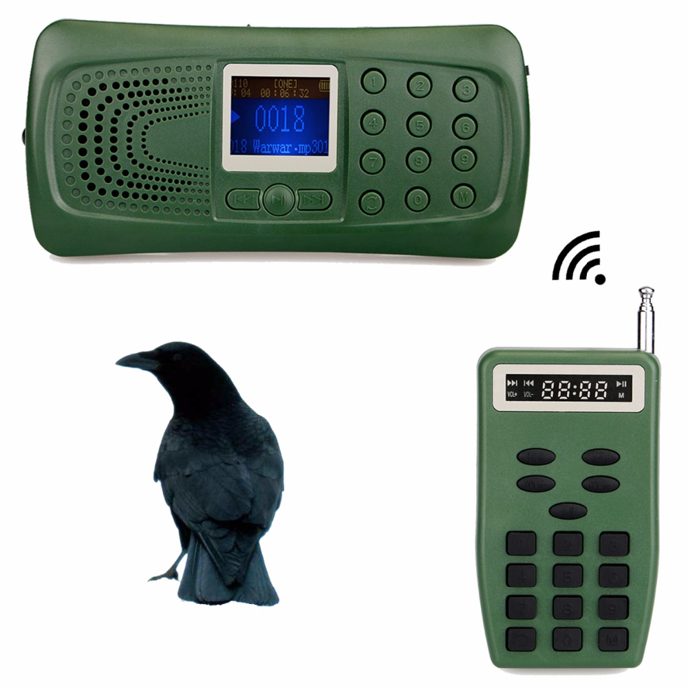 Outdoor Electronic Hunting Decoy Bird Animal Caller Speaker with Timer& Remote Controller 100M MP3 Player F3343G cheap mp3 player desert animal decoy bird caller 390 with portable speaker with handle