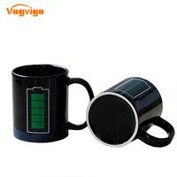 VOGVIGO 2017 Nueva Llegada 330 ML de Publicidad Creativa Taza De Energía Batería de Color Tazas Taza De Cerámica Drinkware Regalo Creativo Taza de Café