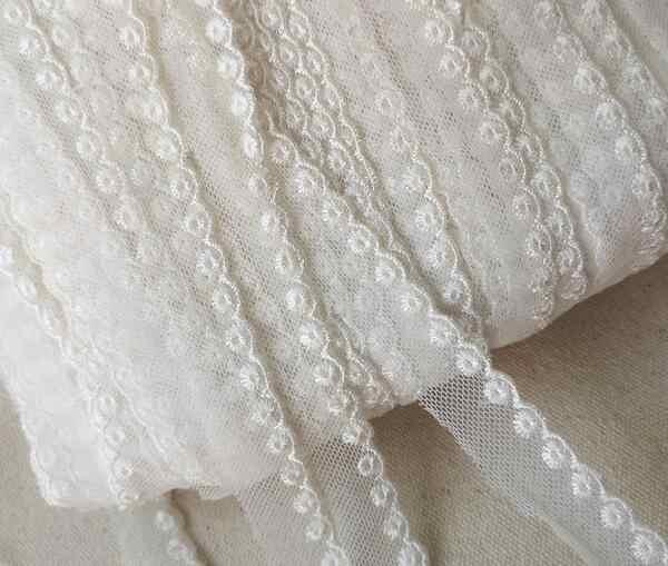 กว้าง 1.5 ซม.HOT beige เย็บปักถักร้อยตาข่ายดอกไม้ผ้าลูกไม้ trim ริบบิ้น DIY จักรเย็บผ้า applique คอชุด guipure ผ้างานแต่งงาน decor
