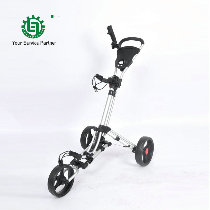 Brand New High quality Aluminum 3 wheel Golf push trolley Quick Easily Fold Golf push cart with Footbrake System Golf push buggy fifty shades darker no bounds flogger флоггер из натуральной кожи и замши