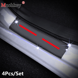 Para Subaru XV CrossTrek 2013 a 2018 alféizares de puertas de coche protectores placa de desgaste 4D fibra de carbono pegatina Auto ACCESORIOS 4 Uds