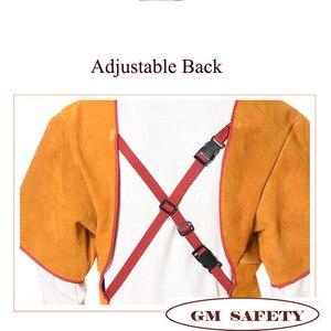 Image 3 - גברים עבודה פרה עור סרבל להבה עמיד עור ריתוך בגדים עם כיס לגברים/נשים לעבודות עץ NL003