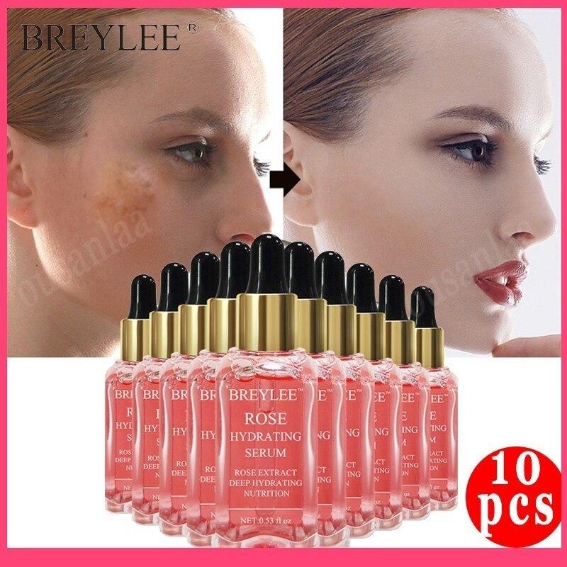 BREYLEE sérum série Rose nourrissant 100% naturel sérum visage visage hydratant profond ferme apaisant réparation Essence soins de la peau 10 pièces