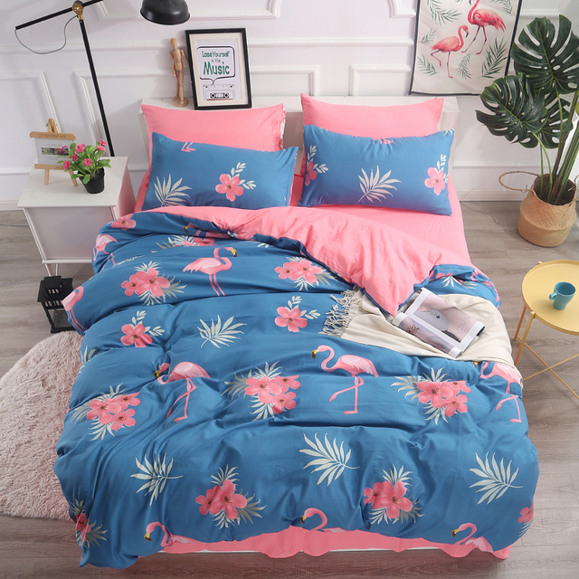 Solstice Home Textile Single Queen Bedding Set Colorful Cloud White Duvet Cover Pillow Case Blue Sheet Kid Adult Girl Bed Linens Bedding Sets Aliexpress