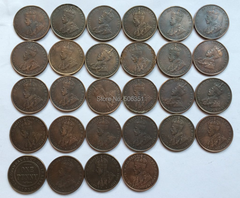 Wholesale australia one penny 28 coins free shipping in for One penny homes