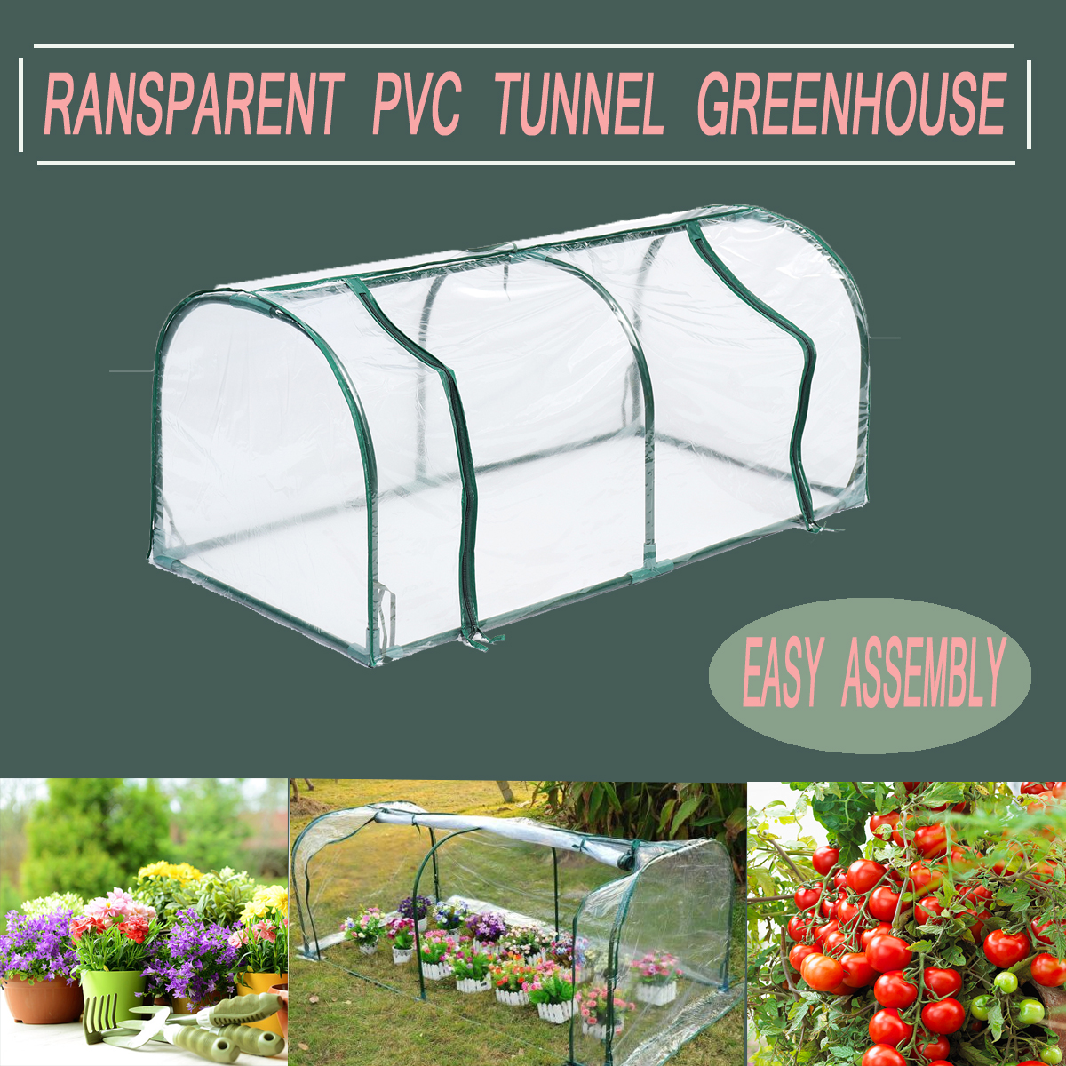 Removable Steel Frame Outdoor Plant Cover Zipper Garden GreenHouse PVC Warm Garden Household Plant Greenhouse Cover 128X60X58CMRemovable Steel Frame Outdoor Plant Cover Zipper Garden GreenHouse PVC Warm Garden Household Plant Greenhouse Cover 128X60X58CM