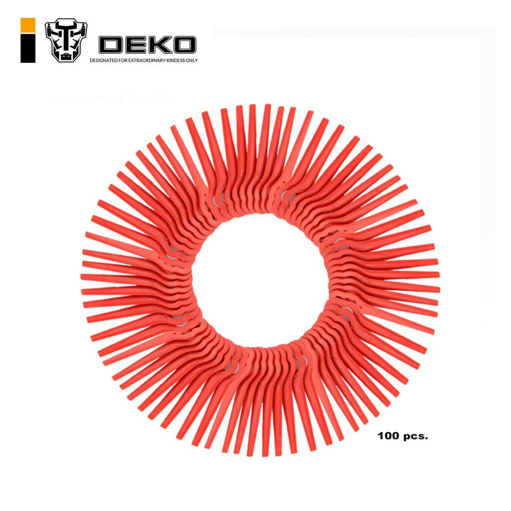 Deko 100pcs Swing Plastic Blade Pendants For Dkgt06 20v Lithium 1500mah Cordless Grass Trimmer Garden Timmer A Grass Trimmer