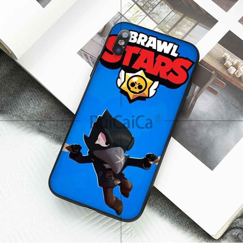Ruicaica Brawl Stars DIY Окрашенные красивые аксессуары для телефонов Чехол для Apple iPhone 8 7 6 6 S Plus X XS MAX 5 5S SE XR сотовые телефоны