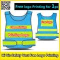 El logotipo de la empresa de impresión de Malla chaleco reflectante de seguridad chaleco de alta visibilidad chaleco de seguridad ropa de trabajo azul