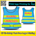 Free company logo printing Mesh vest reflective safety clothing safety blue work vest hi vis vest