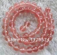 Термальность бесплатно доставляем товары опт и розница красивая мода 15.5 дюйма 8 мм красный кварц Стекло граненый круглый Бусины wj439