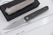 JUFULE Kwaiken ball bearing Flipper folding font b knife b font D2 61 HRC blade Titanium