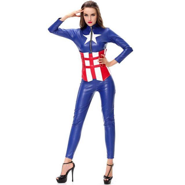 Captain America Superhelden Kostum Halloween Kostume Fur Frauen