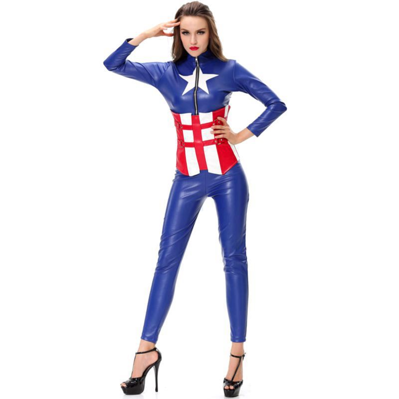 Captain America superheroes costume Halloween costumes for women fancy dresses Carnival costumes anime clothing sissy dress on Aliexpress.com | Alibaba ...  sc 1 st  AliExpress.com & Captain America superheroes costume Halloween costumes for women ...