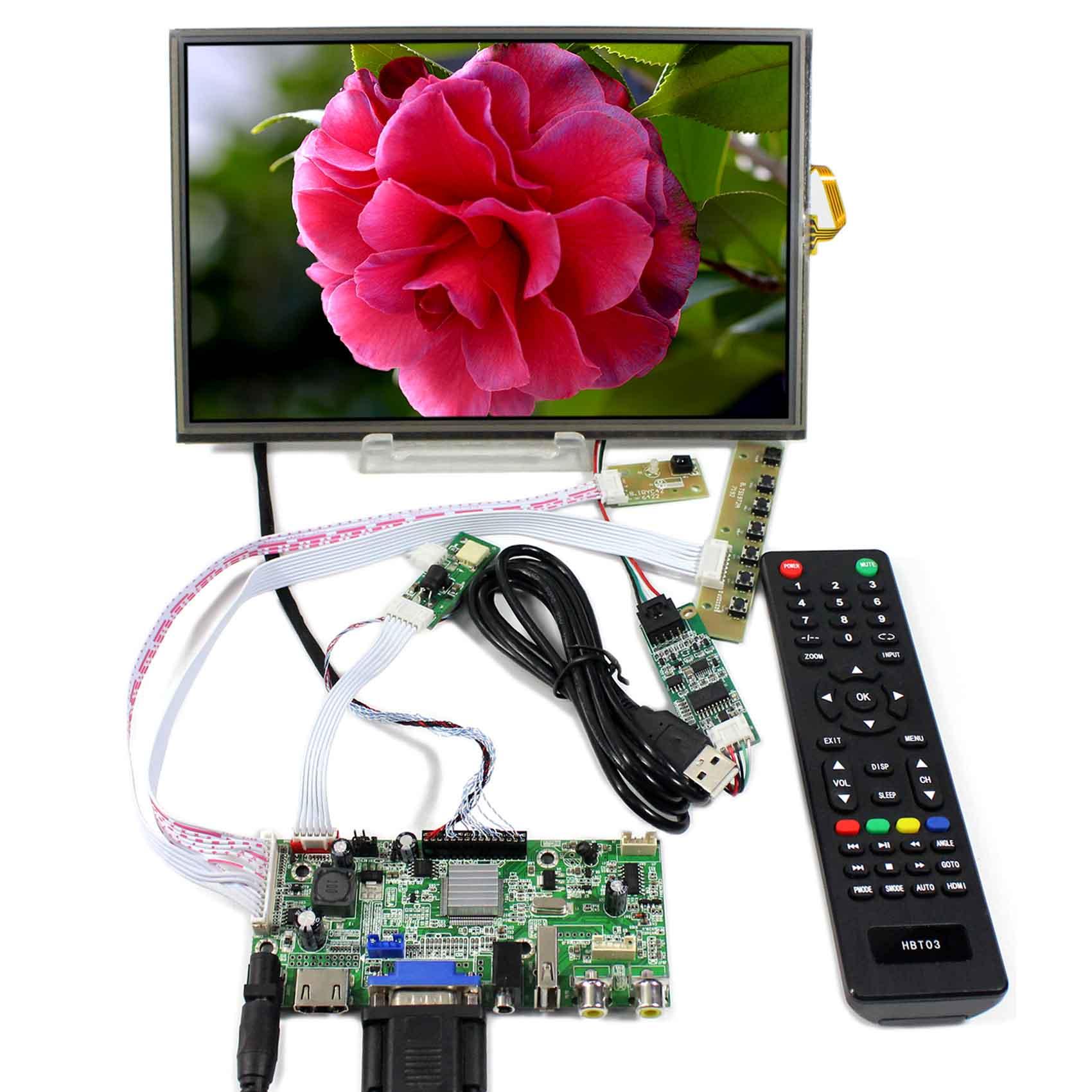 HDMI+VGA+AV+Audio+USB LCD Controller Board With 10.1inch 1920x1200 B101UAN02.1 Touch PanelHDMI+VGA+AV+Audio+USB LCD Controller Board With 10.1inch 1920x1200 B101UAN02.1 Touch Panel
