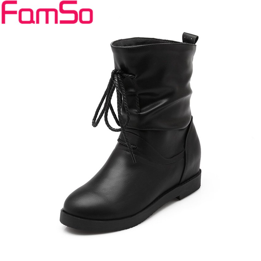 Plus Size34 43 2016 New Sexy font b Women b font Boots Autumn Platforms Motorcycle boots
