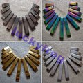 wholesale 5sets/lot AAA cute black gold Silver rainbow colorful Hematite set  Beads