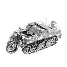 Nan jüan 3D fém puzzle SD.KFZ.2 Kleines Kettenkraftrad DIY lézeres vágott puzzle kirakós modell a felnőtt gyerekeknek Gyerekek oktatási játékok