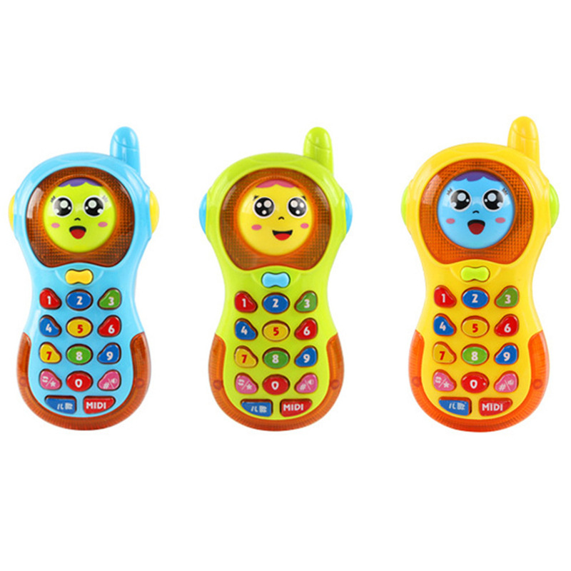 Multifunctional Smart Face Change Child Toy Phone Music Lighting Mobile Phone Early Childhood Children Play Toys Kids Gifts
