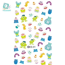 цена на DS091 Nail Design Water Transfer Nails Art Sticker Cartoon Cute Pictures Nail Wraps Sticker Tips Manicura nail supplies Decal