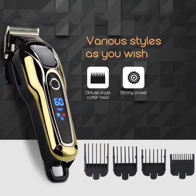 Kemei KM-1990 Rechargeable tondeuse cheveux professionnel tondeuse cheveux rasage Machine cheveux coupe barbe tondeuse électrique