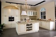 PVC/vinyl kitchen cabinet(LH-PV059)