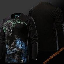 Cool Design Watch Over OW Hanzo VS Genji T-shirts Blizzard OW Game Hanzo Hero Tshirts Long Sleeve Black Tees For Mens Boys