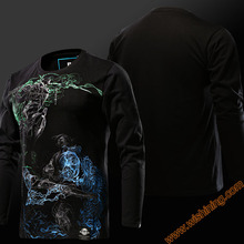 Cool Design Watch Over OW Hanzo VS Genji T-shirts Blizzard OW Game Hanzo Hero Tshirts Long Sleeve Black Tees For Mens Boys