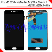 Black 100 New Full LCD DIsplay Touch Screen Digitizer Assembly For Meizu M5 M5 Mini M611D