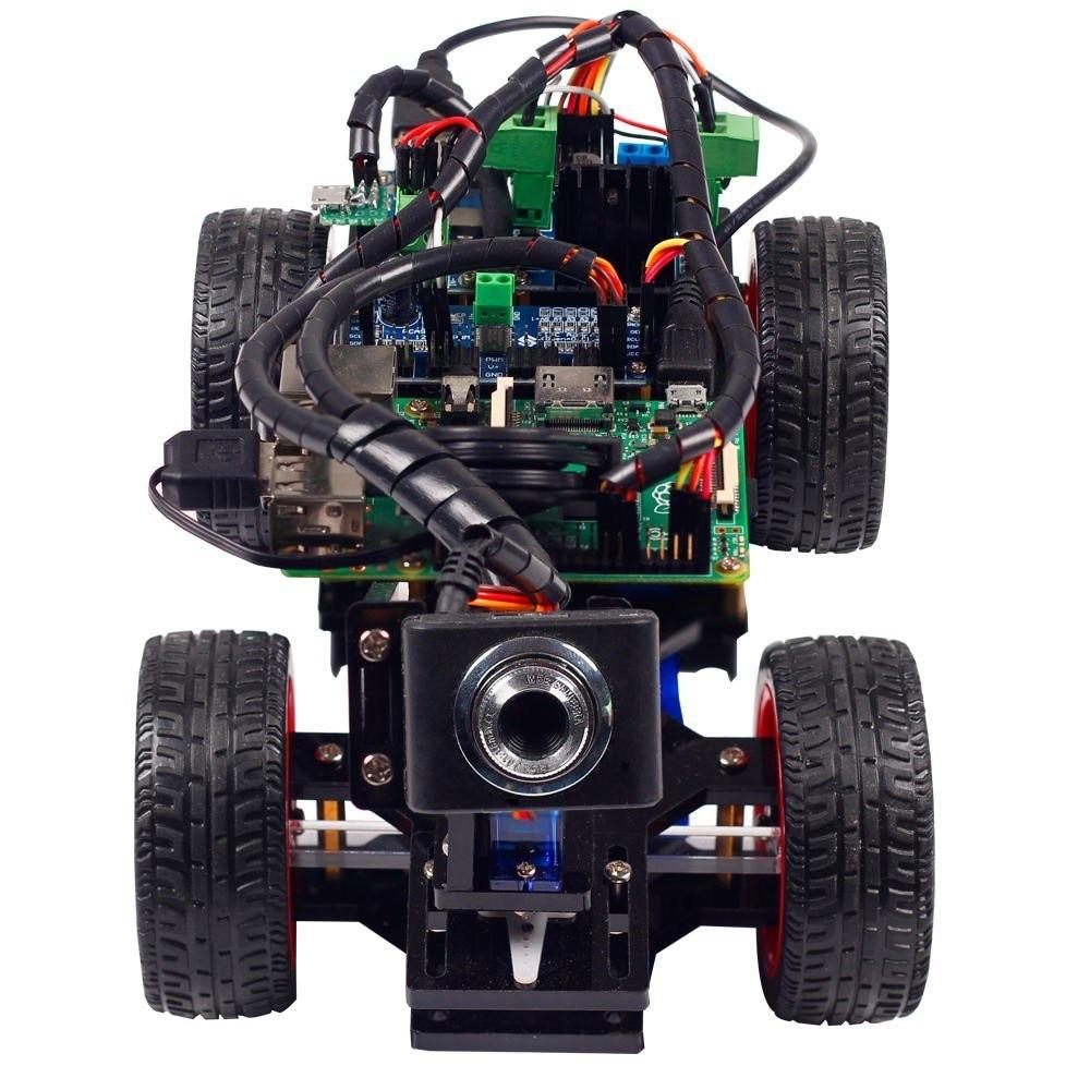 SunFounder inteligente Video coche Kit Raspberry Pi DIY Kit de Robot para niños adultos Compatible con Raspberry Pi Modelo B 3B + 3B 2B - 2