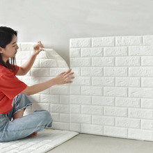 DIY Wall stickers 3D self-adhesive wallpaper Home creative TV Background foam wall brick decorative waterproof Wall Sticker 3d wall stickers self adhesive creative tv background foam wall brick wallpaper decorative waterproof