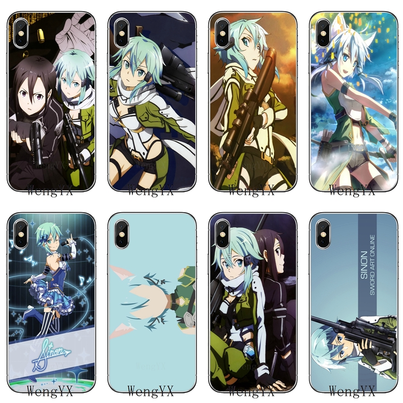 Cellphones & Telecommunications Half-wrapped Case Honest Sword Art Online 2 Sinon Silicone Tpu Soft Phone Cover Case For Samsung Galaxy S3 S4 S5 S6 S7 Edge S8 S9 Plus Mini Note 3 4 5 8 Agreeable Sweetness