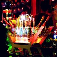 Chopeira шкаф, держатель бутылки вина продвижение LED зарядки ведро со льдом 6 бутылках шампанское Размеры лодка форме бар настройки
