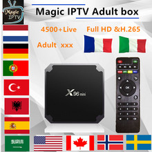 X96Mini Android TV Box 1 years French IPTV M3U subscription france Italy Arabic Belgium spain Sweden Portugal Smart