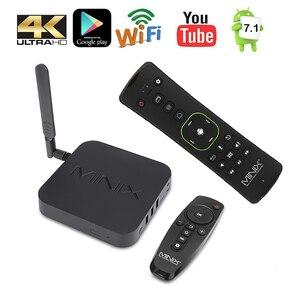 Image 2 - MINIX NEO U9 H + NEO A3 Android 7.1 TV kutusu ile ses girişi hava fare isteğe bağlı Amlogic S912 H Octa çekirdek 4K HDR WIFI akıllı TV kutusu