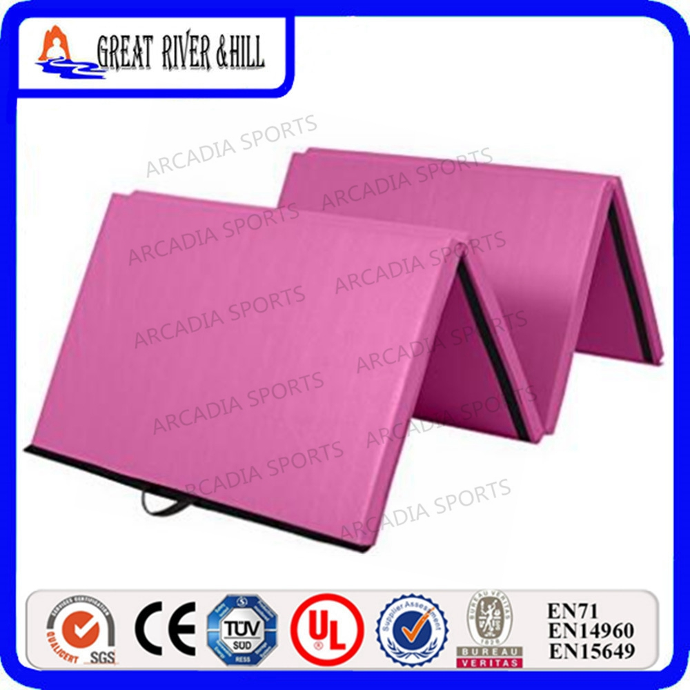 2.4mx1.2mx5cm exercise fitness Folding Folding Panel Gymnastics Mat Gym Fitness gymnastics mat thick four folding panel fitness exercise 2 4mx1 2mx3cm
