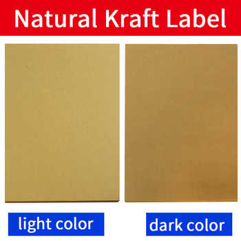 A4 label sheet  Kraft Paper Self-Adhesive Stickers for inkjet / Laser Printer /Copier, 50  Sheets, Matt Surface - DISCOUNT ITEM  0% OFF All Category