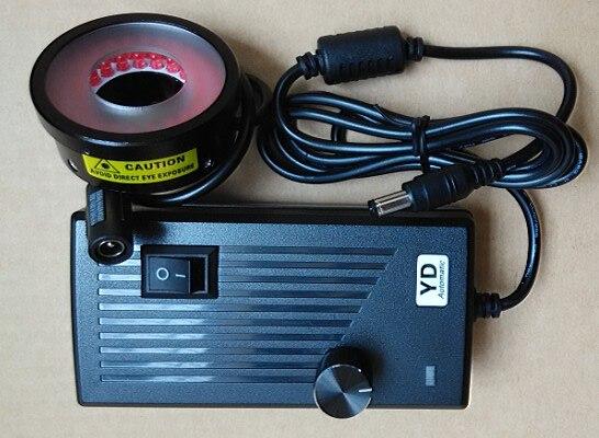 چراغ حلقه چراغ دیافراگم 25 میلی متر دیافراگم ماشین بینایی با تابلوی سنباده لامپ صنعتی روشنایی قابل تنظیم