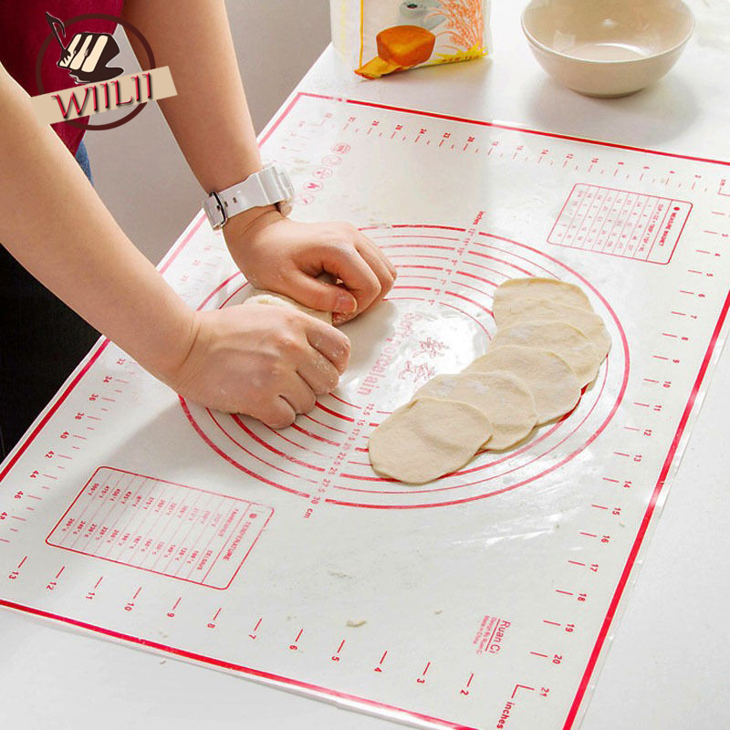 60x40cm Fiberglass Silicone Rolling Cutting Fondant Cake