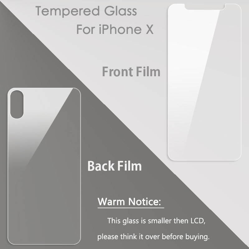 KIPX1000B_4_9H Explosion-proof Tempered Glass LCD Screen Protector for iPhone X