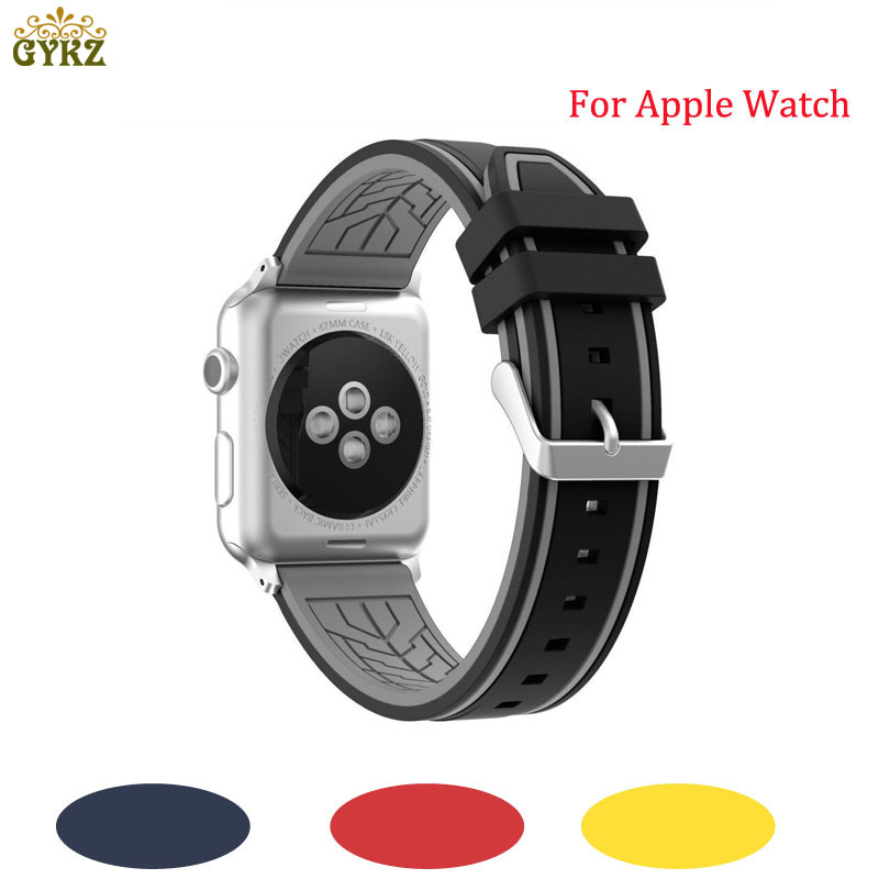 Silicone Strap for Apple Watch Band 42mm 38mm for iwatch Series 3 2 1 Bracelet Sport Wrist Watch Belt Rubber Watchband 22 colors sport silicone band for apple watch band series 1 2 3 silicone strap bracelet for iwatch 38mm 42mm watchband