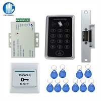 Full Waterproof RFID Access Control System Kit T11 Digital Lock 3A 12V Power Supply Electric Strike