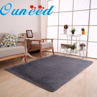 Ouneed Happy Home Fluffy Rugs Anti-Skid Shaggy Area Rug Dining Room Home Bedroom Carpet Floor Mat 1 Piece