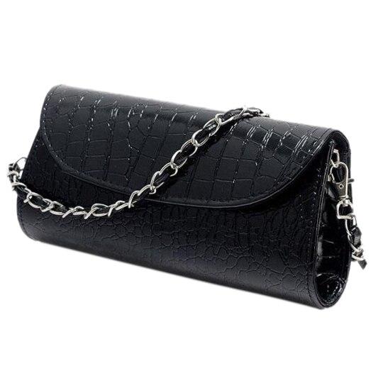 TEXU Дизайн Крокодил Шаблон женщины Цепь сумки cluth искусственной Кожи Вечерние Клатчи партия Плеча Сумку